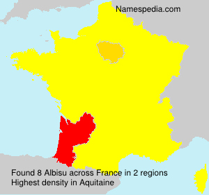 Surname Albisu in France