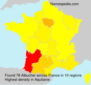 Surname Albucher in France