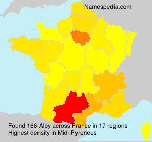 Familiennamen Alby - France