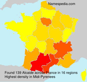 Surname Alcaide in France