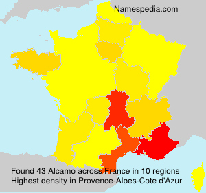 Surname Alcamo in France