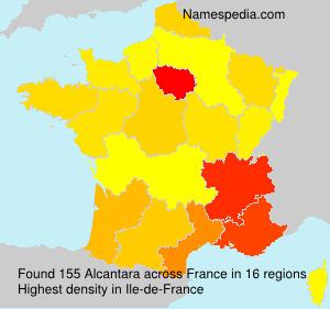 Surname Alcantara in France