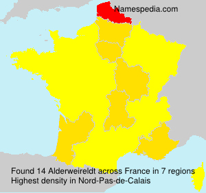 Surname Alderweireldt in France