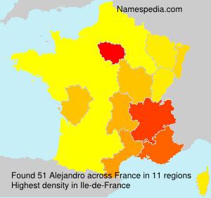 Surname Alejandro in France