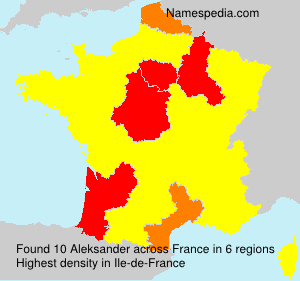 Surname Aleksander in France