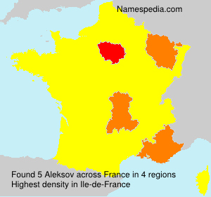 Surname Aleksov in France