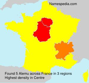 Surname Alemu in France