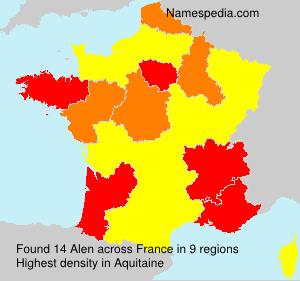 Surname Alen in France