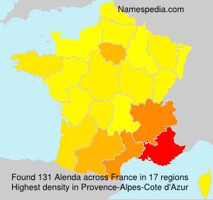 Surname Alenda in France