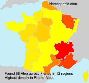 Familiennamen Aleo - France