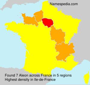 Surname Aleon in France