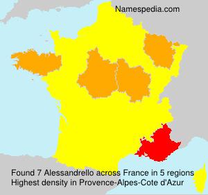 Familiennamen Alessandrello - France