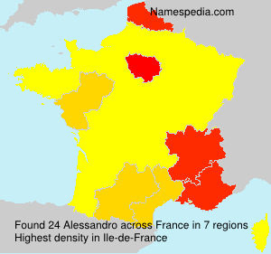 Surname Alessandro in France