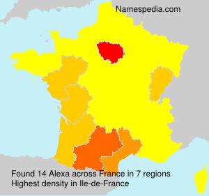 Surname Alexa in France