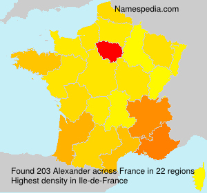 Surname Alexander in France