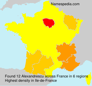 Surname Alexandrescu in France