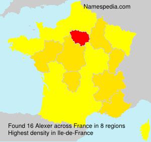 Surname Alexer in France