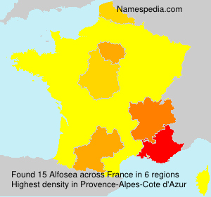 Surname Alfosea in France