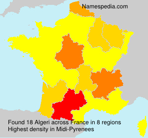 Familiennamen Algeri - France