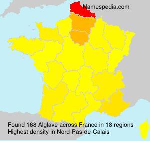 Surname Alglave in France