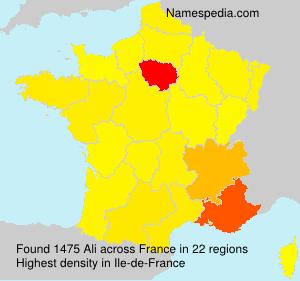 Familiennamen Ali - France