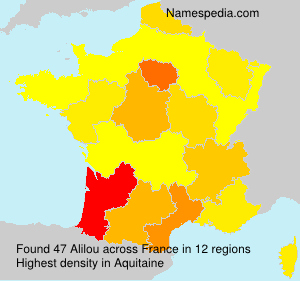Surname Alilou in France