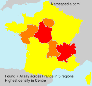 Surname Alizay in France