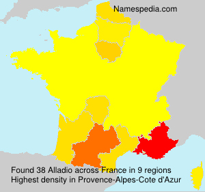Surname Alladio in France