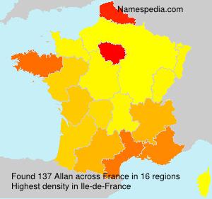 Surname Allan in France