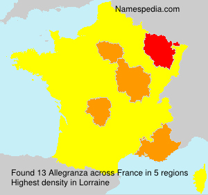 Surname Allegranza in France