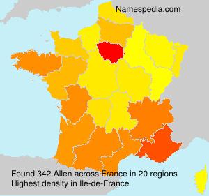 Surname Allen in France