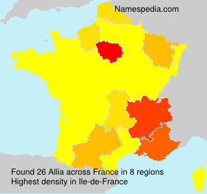 Surname Allia in France