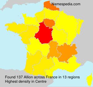 Surname Allion in France