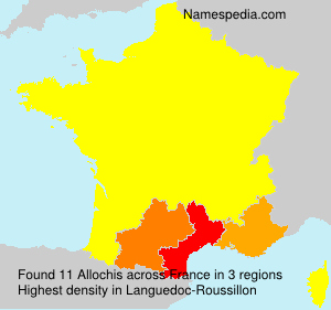 Surname Allochis in France
