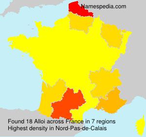 Surname Alloi in France