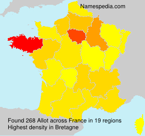 Surname Allot in France