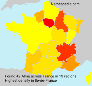 Surname Alma in France