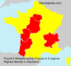 Surname Almedia in France