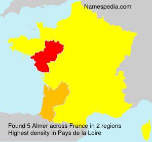 Surname Almer in France