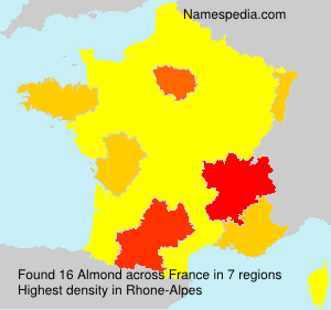 Surname Almond in France