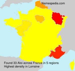 Surname Aloi in France