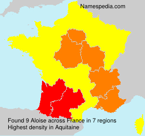 Surname Aloise in France