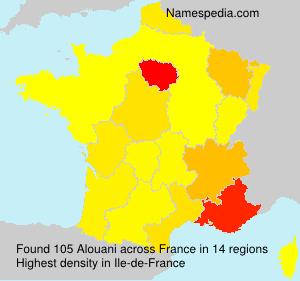 Familiennamen Alouani - France
