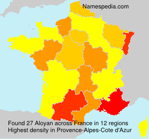 Surname Aloyan in France