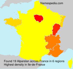 Surname Alparslan in France