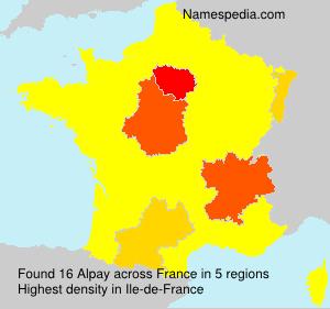 Familiennamen Alpay - France