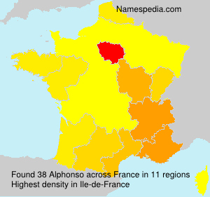 Surname Alphonso in France