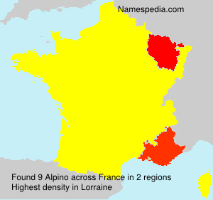 Surname Alpino in France