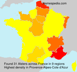 Surname Alsters in France