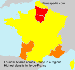 Surname Altaras in France